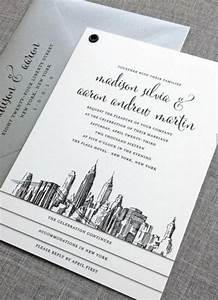 new madison new york skyline wedding invitation sample With wedding invitations with new york skyline