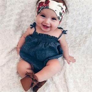 Newborn Baby Girls Bodysuit Cute Jumpsuit Outfits Sunsuit Clothes Clothing Tops Belt Infant Baby ...