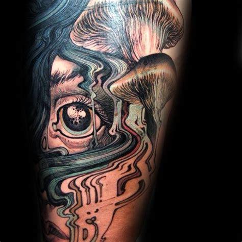 mushroom tattoo designs  men fungus ink ideas