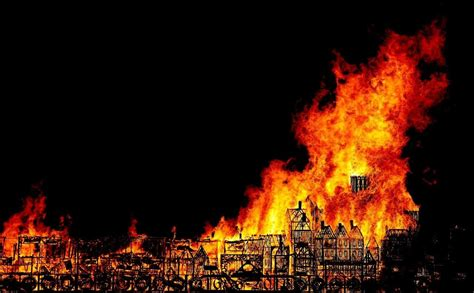 London Model Set Ablaze To Mark Great Fire Anniversary  Fox News
