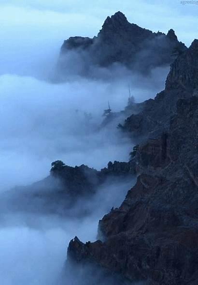 Gfycat Nature Fog Mountains