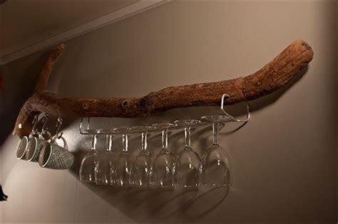 diy branche de bois flott 233 transform 233 e en porte verres 224
