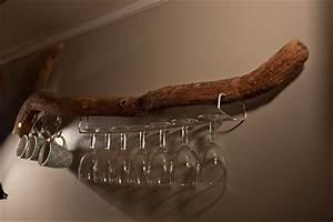 Porte Verre à Pied : diy branche de bois flott transform e en porte verres ~ Dailycaller-alerts.com Idées de Décoration