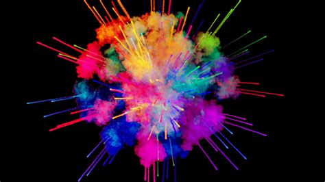 photo colorful paint explosion painting wet