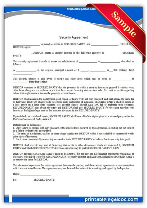 Security Contracts Templates by Security Guard Contract Template Studio Design