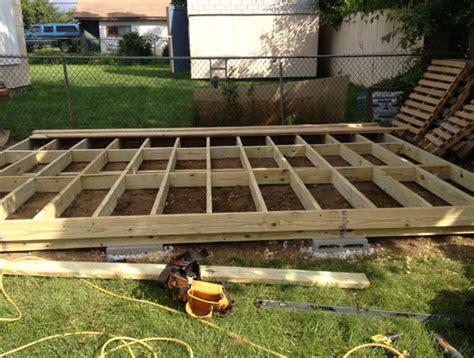 freestanding deck plans home design ideas