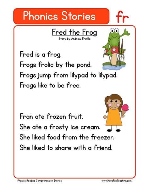 Phonics Words Stories Fr Reading Comprehension Worksheet