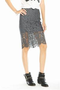 Chaser Grey Lace Skirt from Canada by Ragdolz — Shoptiques