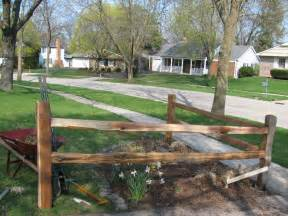 corner fence landscaping there it is split rail corner fence garden pinterest yards landscaping and gardens