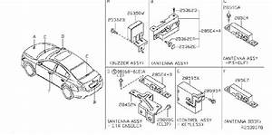 Nissan Maxima Keyless Entry Transmitter  Inst  Dash