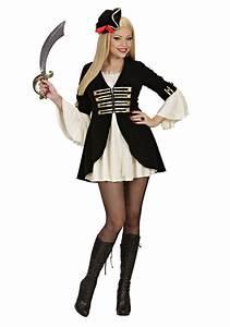 Kapitän Kostüm Damen : karneval damen kost m piratin captain lady faschingskram ~ Frokenaadalensverden.com Haus und Dekorationen