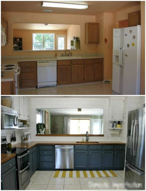 kitchen cabinets in cheap kitchen remodel ideas before after 4 pictures 6150