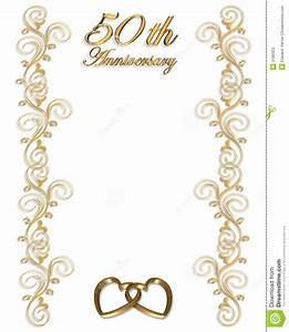 50th anniversary hearts clipart clipart suggest With golden wedding invitation borders free download
