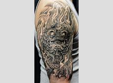 Fu dog chinese lion tattoo design