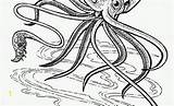 Coloring Cuttlefish Squid Witch Inspirational Lovely Fresh Divyajanani sketch template