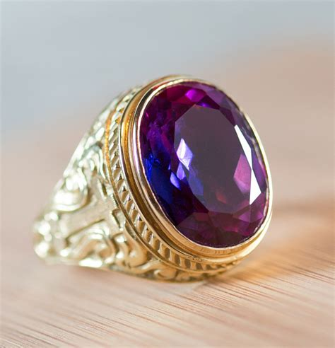 bishops ring  gold  amethyst clergy garmets