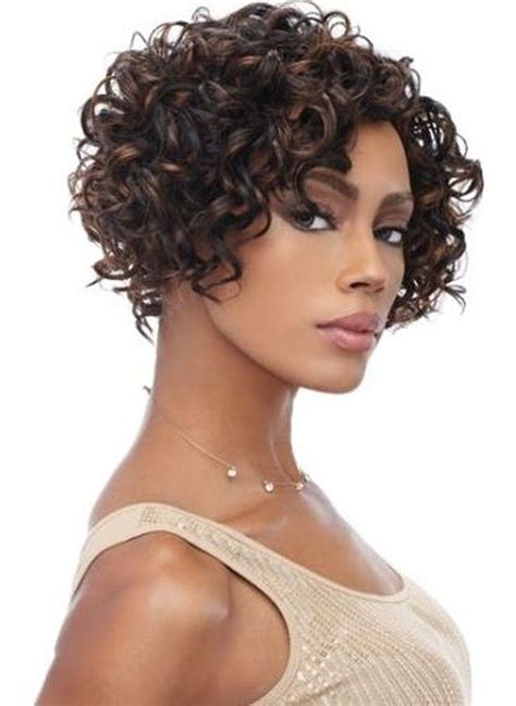 short bob curly african american women front lace remy