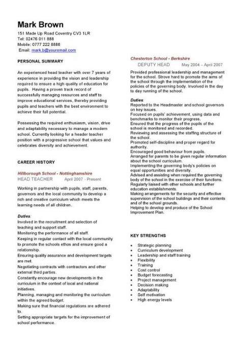 Curriculum Vitae Model For Teaching by Cv Sle Curriculum Vitae Teaching Cv