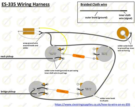 Wiring Harnes For Epiphone Dot 335 by Wiring Diagram For Gibson Es 335 Epiphone Casino