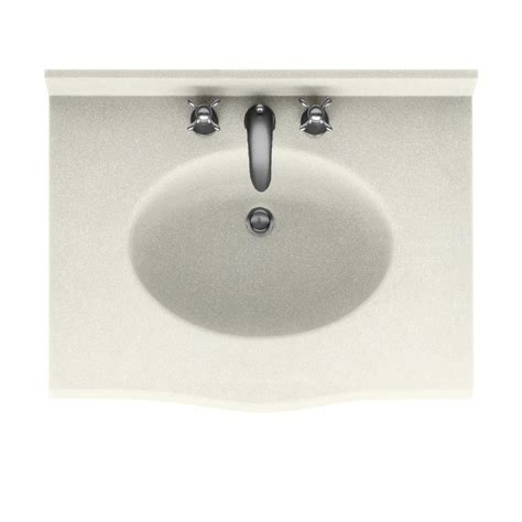 cleaning kitchen sink swanstone europa 37 in solid surface vanity top with 2237