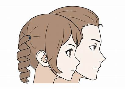 Anime Hair Drawing Draw Female Hairstyles Manga