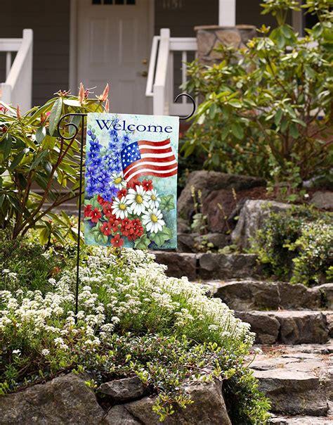 toland home garden toland home garden patriotic welcome garden flag 112060