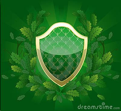 green shield royalty  stock photography image
