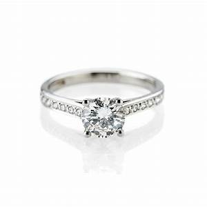 magnificent diamond engagement ring with diamond set With diamond and platinum wedding ring