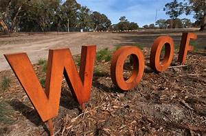 dog park signage screenmakers With corten steel letters