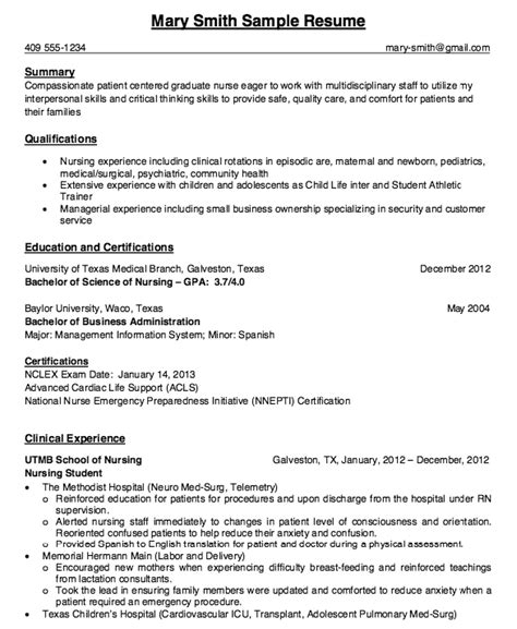Resume Exles For Nursing Students by Pin By Ririn Nazza On Free Resume Sle Student