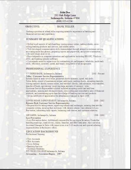 bank teller resume templates and cover letters plus a search engine to help you in your