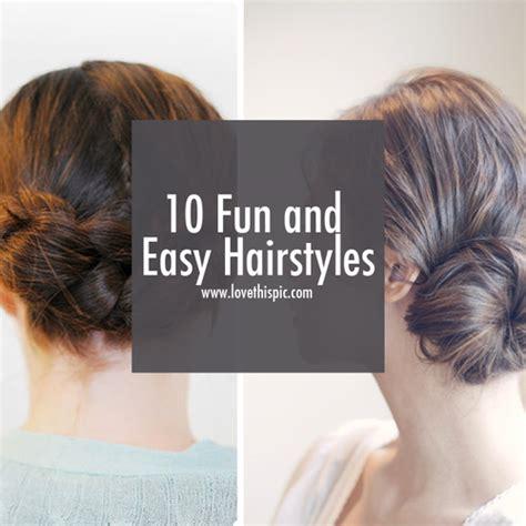 fun easy hairstyles hair
