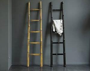 Echelle Decorative Blanche : echelle bambou d corative sdb pinterest bambou ~ Teatrodelosmanantiales.com Idées de Décoration