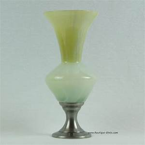 Grand Vase En Verre : grand vase en verre teint jaune et tain ~ Teatrodelosmanantiales.com Idées de Décoration