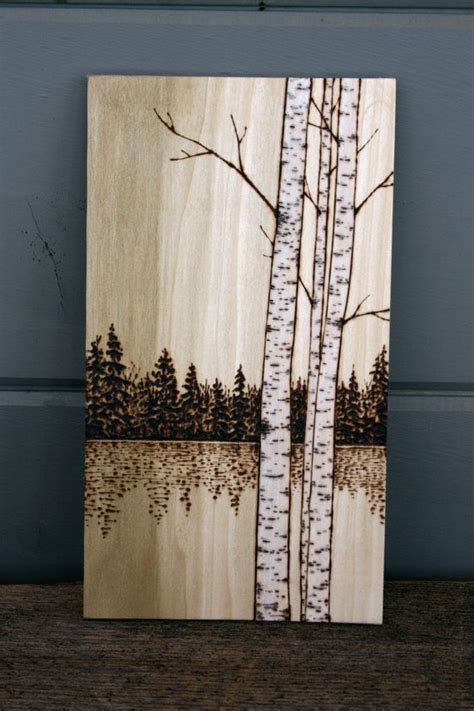 birch trees wood burning by 17 best ideas about on wood on wood painting on wood and contemporary