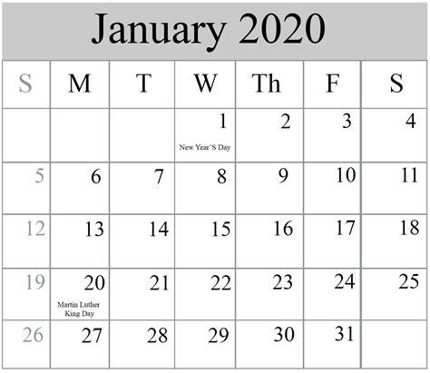 january calendar templates excel word printable