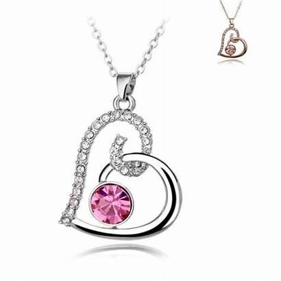 Girlfriend Necklaces Romantic Heart Valentine Necklace Hindi
