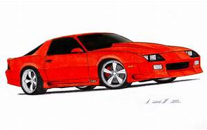 1992 Chevrolet Camaro Z28 IROC-Z Drawing by Vertualissimo ...