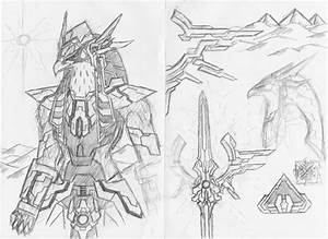 TOD gods sketch: Horus-Ra: 1 by ProjectWarSword on DeviantArt
