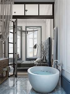hotel bath ideas for the master bedroom With salle de bain baignoire ilot