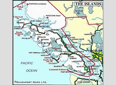 Map of Vancouver Island Visited Parksville, Nanaimo