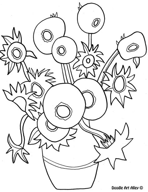 van gogh coloring pages sunflowers coloring pages