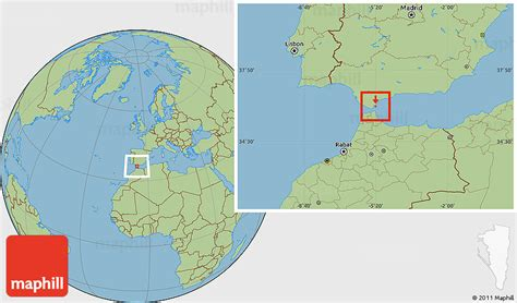 savanna style location map  gibraltar