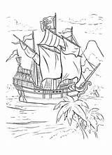 Hook Captain Coloring Peter Pan Ship Sky Sheet sketch template