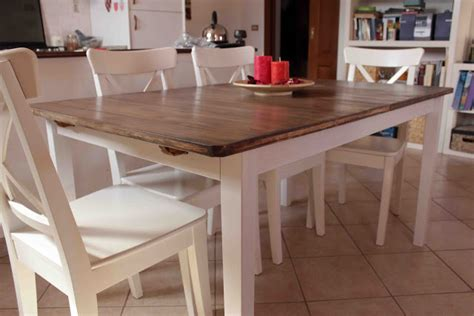Tisch Fur Kuche by Hack A Country Kitchen Style Dining Table Ikea Hackers