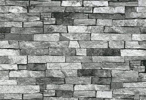 P&s Textured Brick Effect Wallpaper Charcoal Grey Black