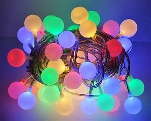led lichterkette 10m bunte leds 50er partylichterkette With französischer balkon mit bunte lichterkette garten