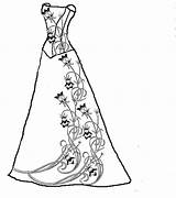 Dress Coloring Pages Dresses Wedding Printable Print Patterns Adult Prom Princess Clipart Getdrawings Pretty Embroidery Sheets Fancy Quilling Victorian Cliparts sketch template