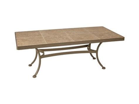 Find new outdoor coffee tables for your home at. Tile Top Coffee Table: OW Lee Ceramic Top Wrought Iron Mocha Tile 48 x 24 Rectangular Patio ...