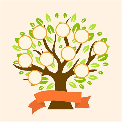 flat modern family tree vector template vector